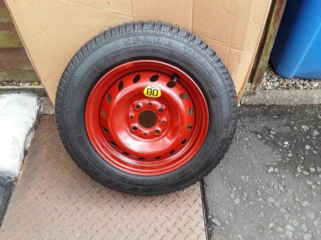Fiat  Panda Ford Ka Space Saver Wheel Tyre