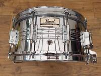 Vintage Pearl M-514D 14x6.5 Steel Chrome Snare Drum