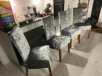 Set of 4 high backed dining chairs - bargain