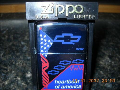 Rare Retired 2000 Chevrolet Heartbeat Of America Zippo Lighter