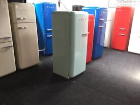 LOVELY PASTEL GREEN FAB28 FRIDGE FREEZER wth Warranty. Can deliver/view, collect