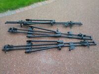 3 x Thule Roofbar Bicycle Racks