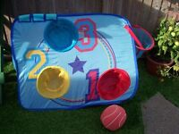 ELC Pop-Up Goal & Basket Hoop with soft ball