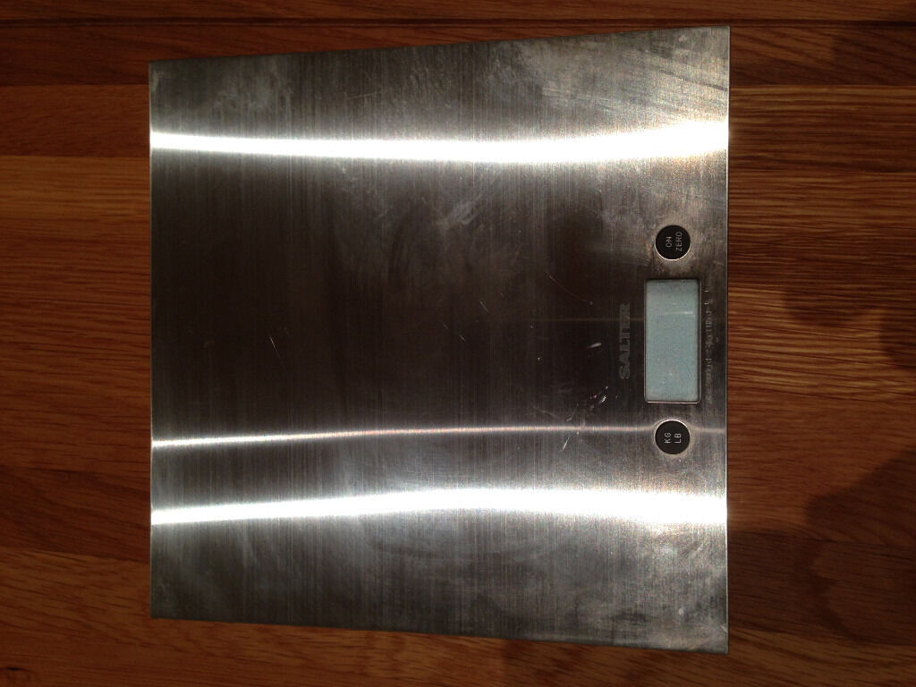 Salter 1004 SSDR Electronic Kitchen Scales in Brushed Silver Stainless Steel JUST REDUCED
