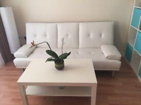 double false leather sofa-bed
