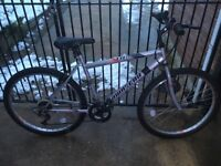 Mountain bike for teen or gent 18 1/2 inches approx & little used ideal for Christmas