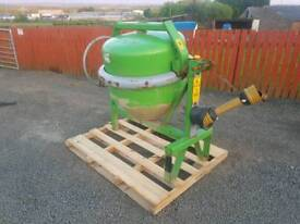 Tractor three point linkage pto driven cement mixer