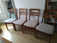 NATHAN Vintage Extending table and 4 chairs - free delivery available