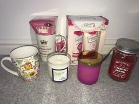 Selection of new mugs, candles & gifts