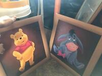 5 different style Winnie the Pooh posters