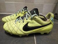 Nike Tempo football boots size UK 5