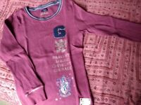 Girls Burgundy Harry Potter Gryffindor T shirt By Primark