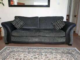Grey and black Sofa bed and arm chair