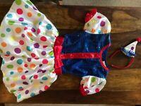 Girl's Clown costume Size: Small 110cm-122cm