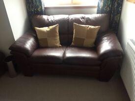 Italian Leather Sofas (3x 2 seater + 2 foot stools)