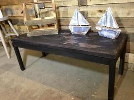 Wooden industrial style painted table