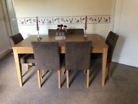 Dinning table and 6 chairs £185 ONO