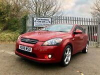 2008 Kia Pro Cee'd 3 Hatchback 1.6CRDi Red 1 Owner LOW Mileage