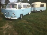 Selling 1968 Early Bay VW Campervan (Mr Toad) and his younger brother, a 1983 Eriba Puck Caravan