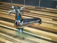 Bath taps in chrome