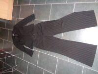 Womens Black Pinstripe Suit size 12