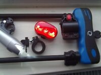 D lock with front light rear lights