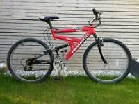 Mountain bike, 21 gears, dual suspension, aluminium frame