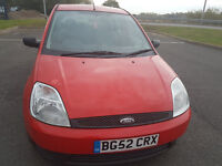 FORD FIESTA FINESSE, **1.3 cc** MOT OCTOBER 2017**