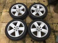 "Vw Passat b6 17"" Monte Carlo alloy wheels with tyres"