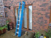 triple trade fibreglass ladder reach 6m