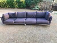 Charcoal Grey Sofa- can be divided into corner unit