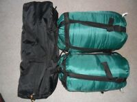 Brand new 2 person tent and 2 sleeping bags