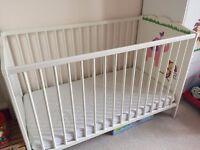 IKEA cot bed & Mattress - must go!