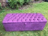 Handmade chesterfield blanket box, bench seat