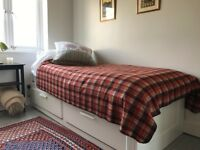 DAY BED - SINGLE PULLS OUT TO DOUBLE BED, LOVELY CONDITION