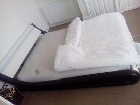 Kingsize itialian style LED headboard bed