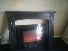 Black electric fire