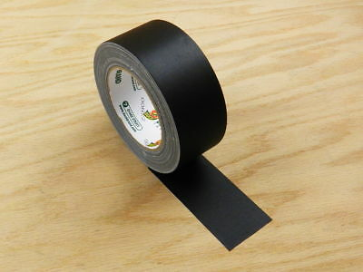 """Duck 2"""" Floor Stage Show Audio Cloth Black Gaffers Tape Videography 75' 25yd"""