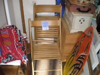 """SET OF """"FOUR"""" IKEA WOODEN FOLDING CHAIRS"""