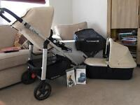 Uppababy Cruz 2015 - Inc Carrycot, Travel Adapters and accessories