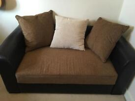 Santiago leather 2 seater sofa bed
