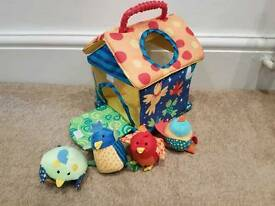 Childrens fabric bird house toy