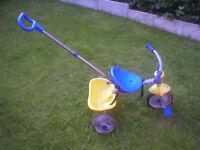 Boys toddler bike trike with handle