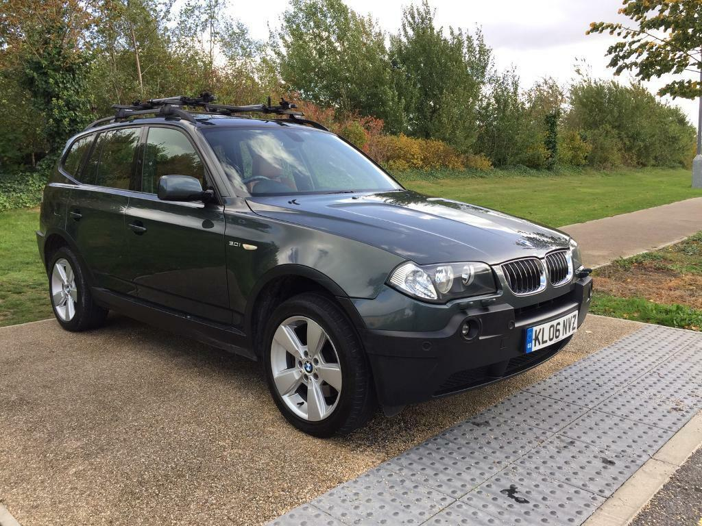 2006 bmw x3 3 0i petrol automatic pano roof low miles green with full leather warranty
