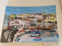 Brixham Harbour Art Painting😀