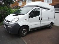 Vivaro High Cab. Carpeted and lined with power and lights.