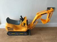 Yellow Digger excavator junior road builder
