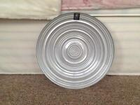 LARGE DECORATE PLATE, silver