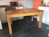 Oak table 36inch / 56inch 6 solid chairs / 2 need a bit of tlc