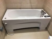 Bath, electric rise and fall with jacuzzi type jets